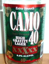In other news, #Ladpack has announced it's new partnership with Camo 40 Premium Beer. 'Camo 40: Helping Tramps Sleep in style'.